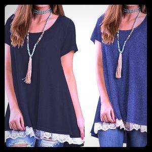 Bundle of Two Lace-Trim T-shirt Dresses